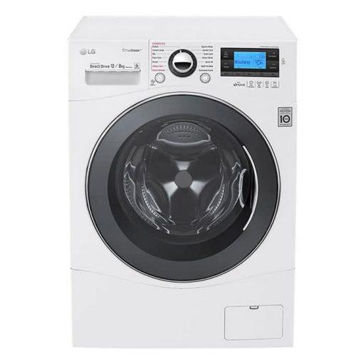 طراحی زیبای ماشین لباسشویی 12 کیلویی ال جی مدل WD951606RCH از روبرو