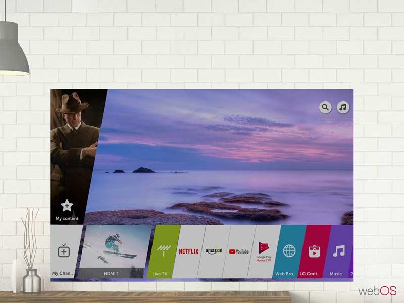 سیستم عامل Web OS تلویزیون ال جی