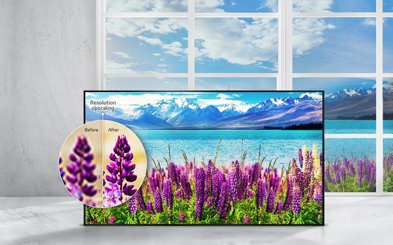 تفویت تصویر در تلویزیون 4K ال جی