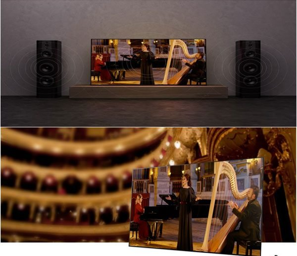 قدرت صوتی تلویزیون سونی 55A9G
