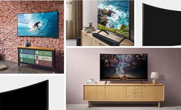 طراحی تلویزیون سامسونگ 55 اینچ مدل RU7300