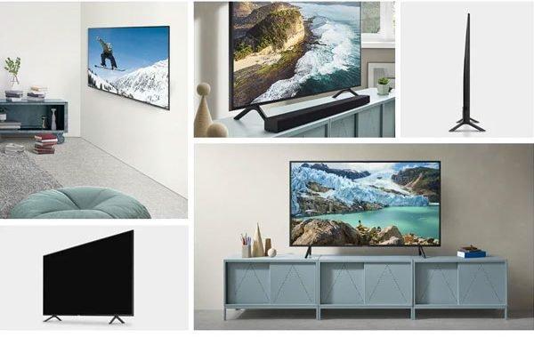 طراحی ظاهری تلویزیون 4k سامسونگ 65 اینچ RU7100