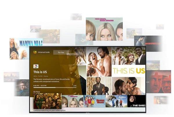 امکانات هوشمند تلویزیون 4k سامسونگ 65 اینچ RU7100