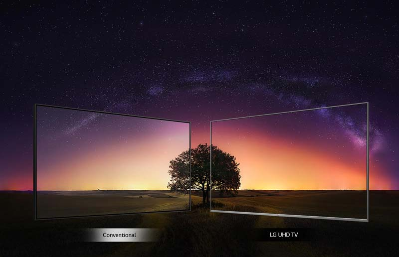 زاویه دید گسترده تلویزیون ال جی 55UM7660