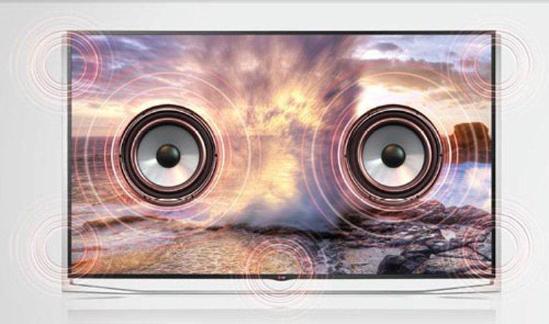 صدای چندجانبه تلویزیون ال جی 43um7340