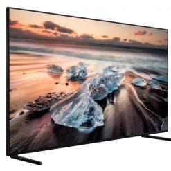 نمای تلویزیون سامسونگ 82 اینچ مدل 82Q900 از زاویه چپ