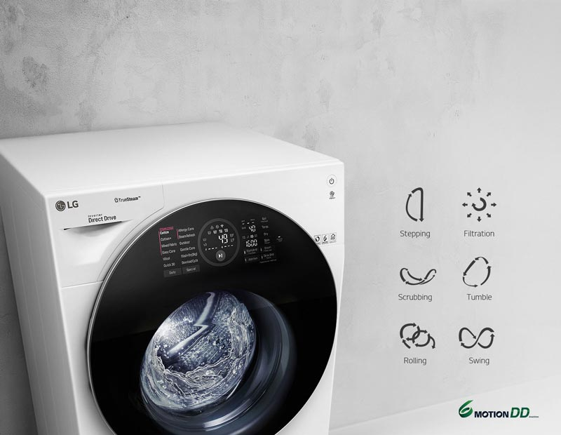 ماشین لباسشویی هوشمند ال جی FH6G1BCHK6N
