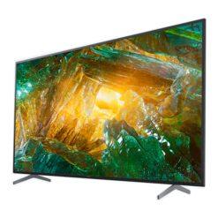 نمای تلویزیون تلویزیون سونی 43 اینچ مدل 43X8000H از زاویه راست