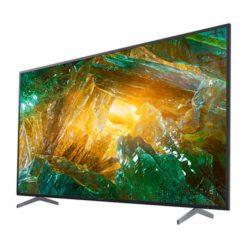 نمای تلویزیون سونی 85 اینچ مدل 85X8000H از زاویه راست