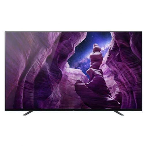 نمای تلویزیون سونی 65 اینچ مدل 65A8H از جلو