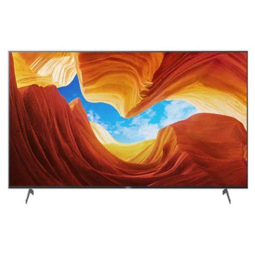 نمای زیبای تلویزیون سونی ۸۵ اینچ مدل 85X9000H از روبرو