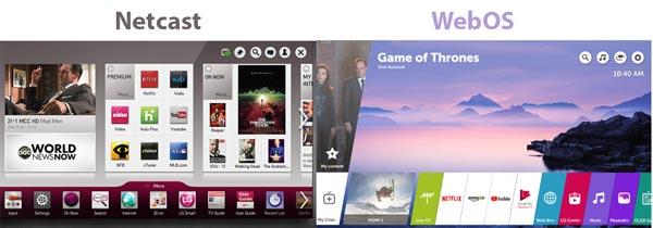 تفاوت سیستم عامل WebOs با Netcast