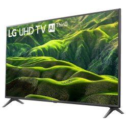 طراحی زیبای تلویزیون ال جی 49 اینچ مدل 49UN6900 از زاویه راست