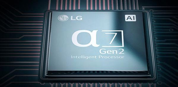 پردازنده چهار هستهای تلویزیون ال جی75NANO90UNA