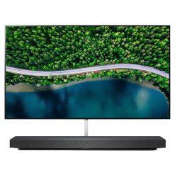 نمای زیبای تلویزیون ال جی 77 اینچ مدل 77WX از روبرو