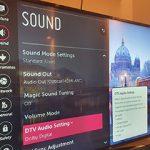 تنظیمات صدای تلویزیون ال جی
