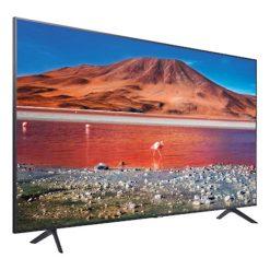 نمای تلویزیون سامسونگ 65 اینچ مدل 65TU7100 از زاویه چپ