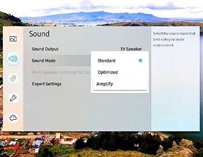 تنظیم حالتهای صدا در تلویزیون سامسونگ
