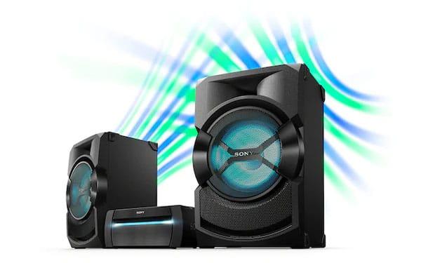 قابلیت نورپردازی سیستم صوتی سونی SHAKE X30P