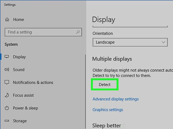 تنظیمات نمایشگر برای اتصال لپ تاپ به تلویزیون