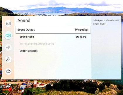 اتصال بلندگوی خارجی به تلویزیون سامسونگ