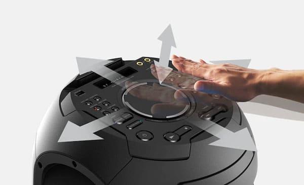 قابلیت ژست کنترل اسپیکر سونی MHC-V42D