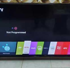 پیغام برنامه ریزی نشده در تلویزیون ال جی