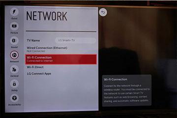 آیا تلویزیون ال جی وای فای دارد؟