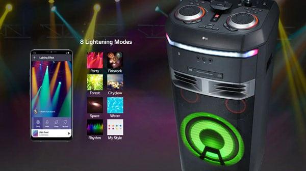 سیستم صوتی ال جی XBOOM OK99 با قابلیت نورپردازی