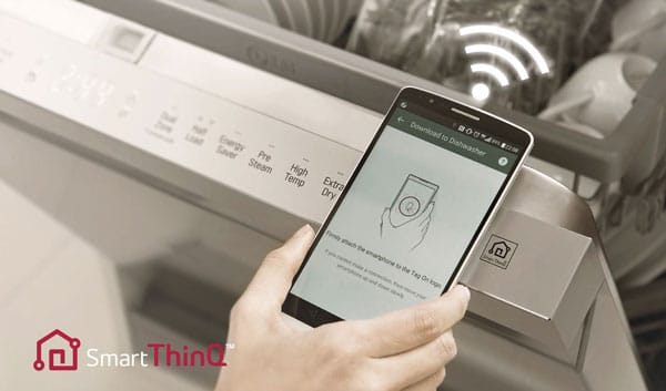 ماشین ظرفشویی هوشمند ال جی DFB512FP