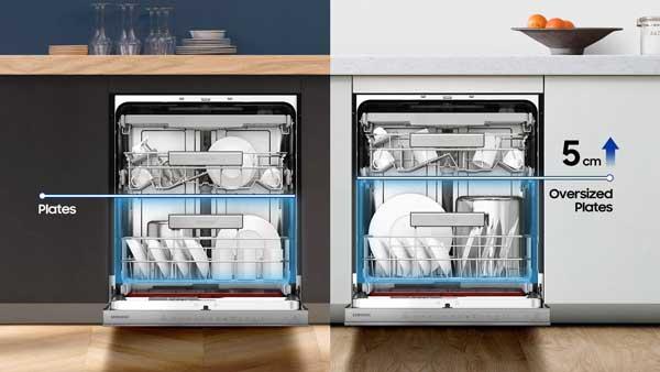 نمای داخلی ماشین ظرفشویی سامسونگ 9530