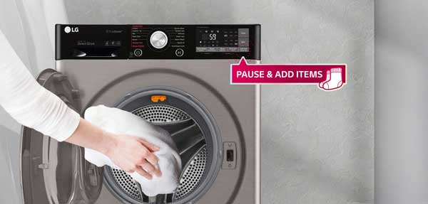 قابلیت Add item ماشین لباسشویی 10.5 کیلو مدل J9