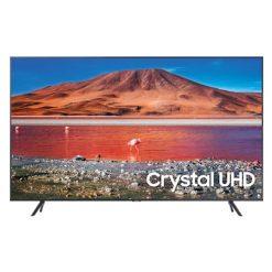 نمای تلویزیون سامسونگ 55 اینچ مدل 55TU7100 از ربرو