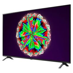نمای تلویزیون ال جی 55 اینچ مدل 55NANO80 از زاویه راست