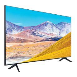 طراحی خشکل تلویزیون سامسونگ 65 اینچ مدل 65TU8000 از زاویه چپ