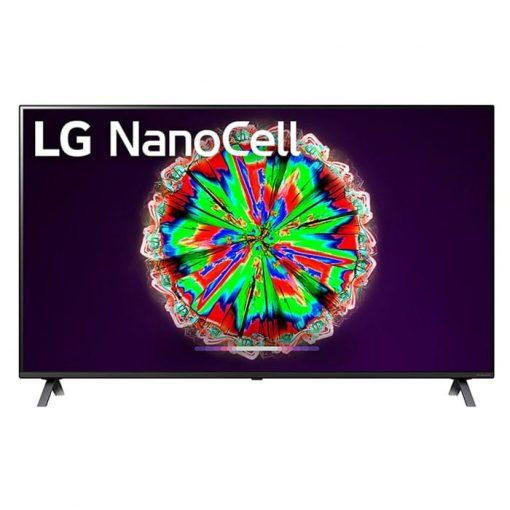 نمای زیبای تلویزیون ال جی 55 اینچ مدل 55NANO80 از روبرو
