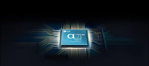 پردازندهی آلفا 7 تلویزیون ال جی مدل 49NANO86