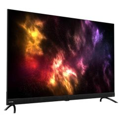 نمای تلویزیون جی پلاس 55 اینچ مدل 55JU922N از چپ