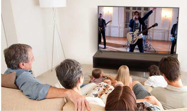 صدای سه بعدی تلویزیون ال جی مدل 70UN7380