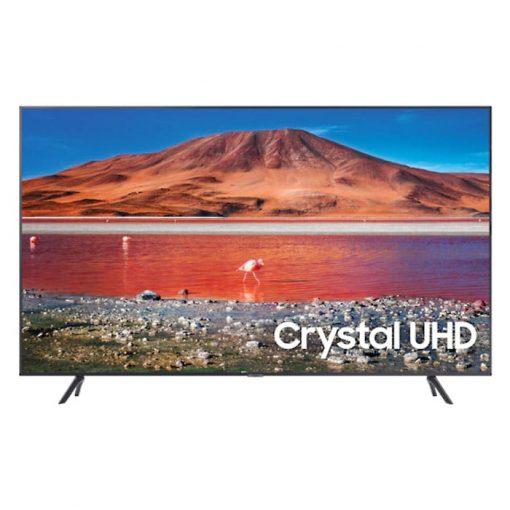 نمای تلویزیون سامسونگ 43 اینچ مدل 43TU7100 از روبرو