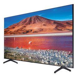 طراحی تلویزیون سامسونگ 58 اینچ مدل 58TU7100 از زاویه راست