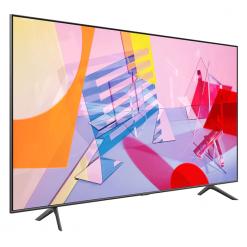 طراحی تلویزیون سامسونگ 75 اینچ مدل 75Q60T از زاویه چپ