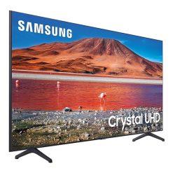 نمای تلویزیون سامسونگ 70 اینچ مدل 70TU7100 از زاویه چپ