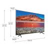 اندازه زوایای تلویزیون سامسونگ 75 اینچ مدل 75TU7100