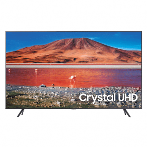 طراحی تلویزیون سامسونگ 75 اینچ مدل 75TU7100 از روبرو