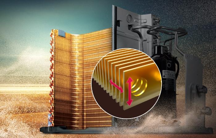 پوشش طلا بر روی اجزای داخلی اسپلیت